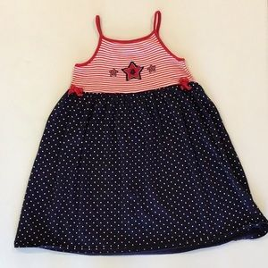 Spaghetti strap red, white, and blue dress B4
